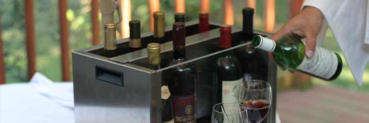 GrapeFul® Wine Cooler indoor use